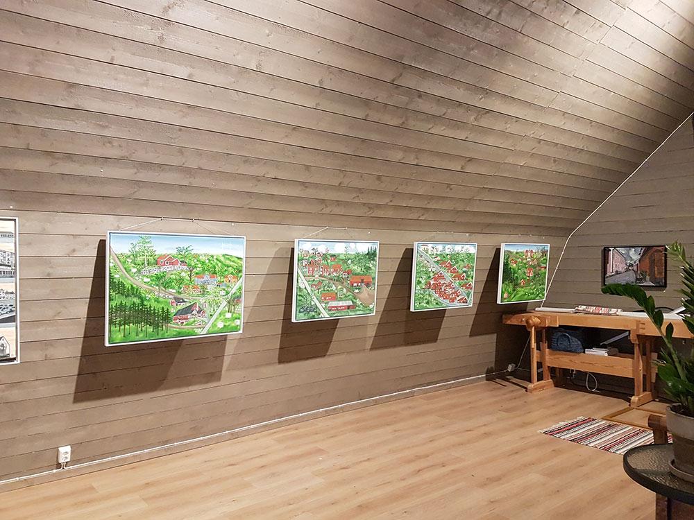 Akvarelltavlor - Konstutställning Topperyd