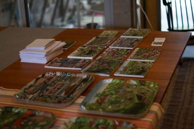 Brickor och postkort av Småländska byar
