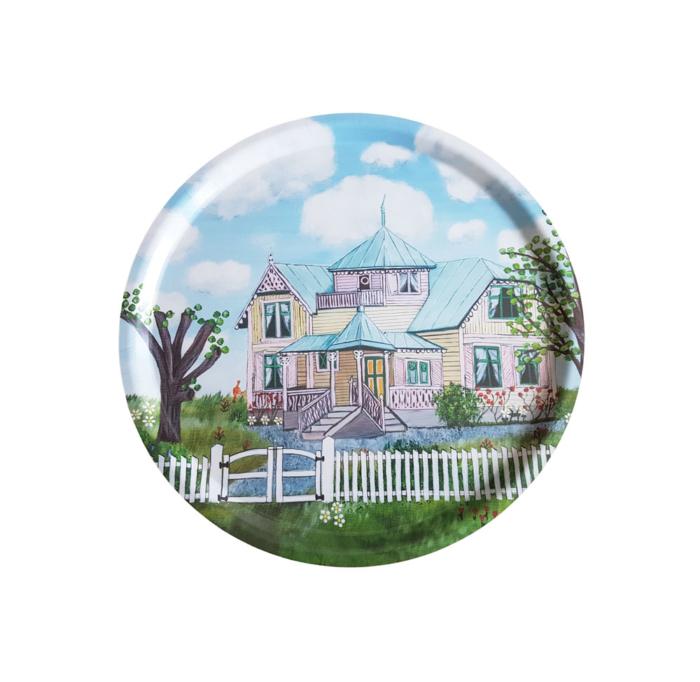 Svensk hantverk, bricka Villa